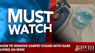 How To Remove Carpet Stains Using An Iron - Video