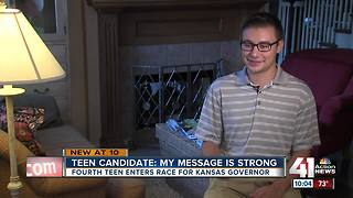 Another teen enters Kansas governor's race - Video