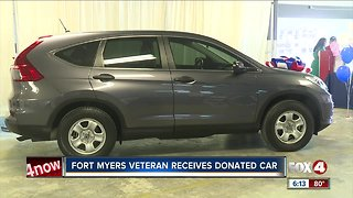 Fort Myers veteran receives donated car