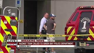 Two sent to hospital, hazmat crew called to Green Bay Police Dept. - Video