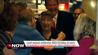 Local woman celebrates 90th birthday at work at McDonalds