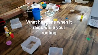 What Happens When It Rains While Roofing