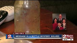 Afton couple finally finds woman named in message in a bottle - Video
