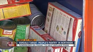 Vandals target community pantry in Northside