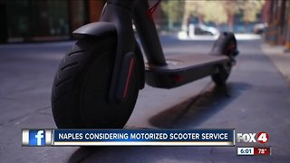 City leaders consider scooter rental service in Naples