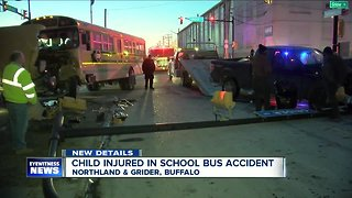 Student taken to the hospital after crash involving Buffalo school bus