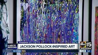 Jackson Pollock inspired art on display in Phoenix - Video
