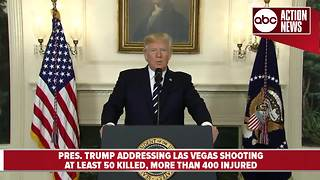 President Trump addresses nation following mass shooting in Las Vegas - Video