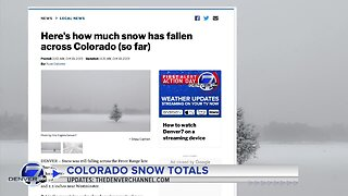 Here's how much snow fell across Colorado