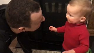 Toddler Cries After Seeing Her Dad Beardless - Video
