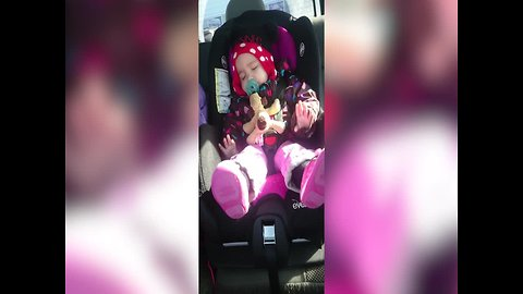 Sleeping Baby Just HAS to Groove to her Favorite Song