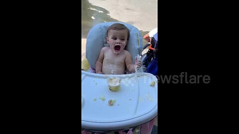 US baby gets brain freeze for the first time on her birthday