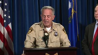 McCarran airport fuel tanks fired at intentionally by Las Vegas shooter according to Sheriff Lombardo - Video