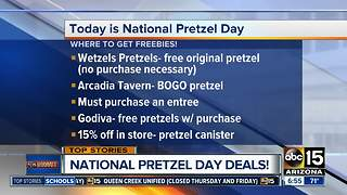 Freebies, deals for National Pretzel Day - Video