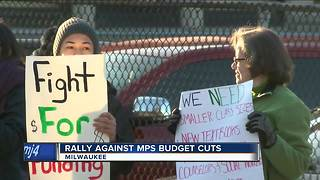 Teachers and students rally against MPS budget cuts - Video