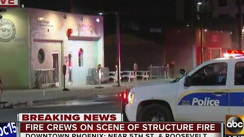 Firefighters extinguish storage room fire near Downtown Phoenix bar