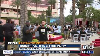 Knights vs. Jets watch party - Video