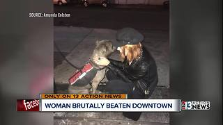 Woman says she was attacked by stranger in downtown Las Vegas