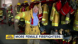 Tampa Bay area's population growth, diversity & career options fueling a surge of women firefighters - Video