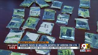 Sheriff: Agents seize $1M worth heroin on I-74, disrupt distribution from Chicago - Video