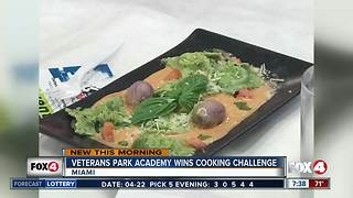 Veterans Park Academy for the Arts wins Gridiron Cooking Challenge - Video
