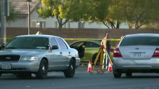 One hospitalized after 2 drivers exchange gunfire in North Las Vegas road rage incident - Video