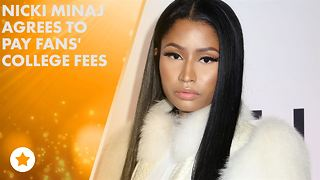 Nicki Minaj spontaneously offers to pay fans' tuition - Video