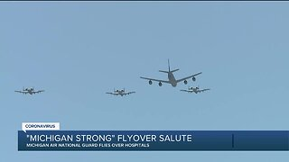 Michigan National Guard conducts flyovers over metro Detroit