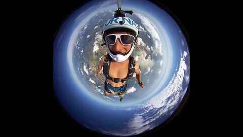 Out of this world – 360 skydive looks like the edge of space