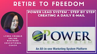 Power Lead System - Step by step creating a daily e-mail