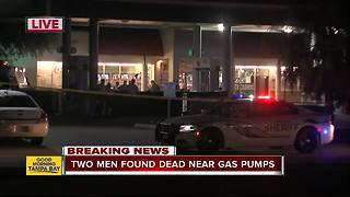 Homicide investigation underway after two men found dead near gas pumps in Tampa - Video