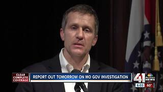 Greitens investigation report to be released Wednesday