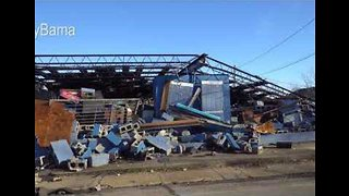 Drone Footage Shows Devastating Aftermath of Tornado in Columbus, Mississippi