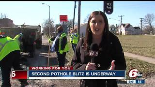 Second pothole blitz begins, drivers frustrated with flat tires - Video
