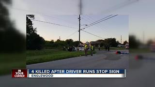 Four Killed After Driver Runs Stop Sign - Video