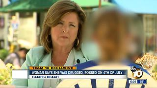 Woman says she was drugged, robbed in Pacific Beach - Video