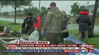 Monetary donations are best for Hurricane Harvey, says Red Cross - Video