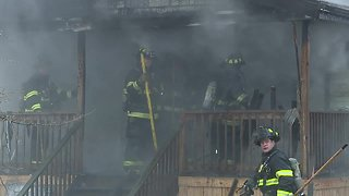 RAW: Hood Avenue house fire