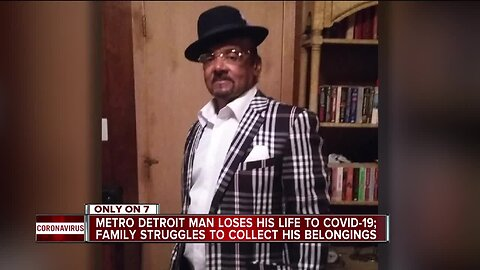 Family of metro Detroit man who died of COVID-19 speaks out after delays gathering personal items