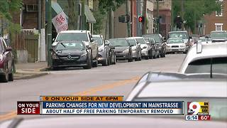 Construction cuts free Mainstrasse parking in half - Video