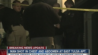 Man hospitalized after an apartment shooting in East Tulsa - Video