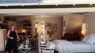 Woman renovates and lives in converted garage!