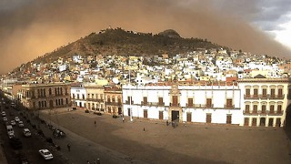 Dust Storm Rolls Through Zacatecas, Mexico - Video