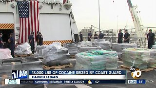18,000 lbs. of cocaine seized by Coast Guard