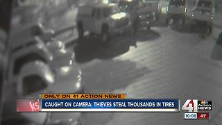 Thieves steal $3,500 worth of tires in Gladstone - Video