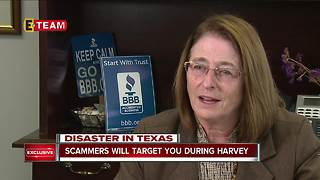Scammers will target you during Hurricane Harvey - Video