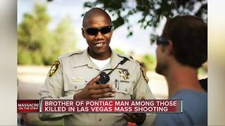 Pontiac man's brother is off-duty Las Vegas police officer killed mass shooting - Video