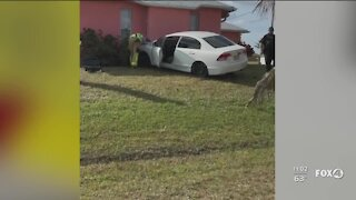 Car crashes into home in Cape Coral