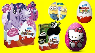 Hello Kitty, Little Pony, Minion, Disney Princess And Kung Fu Panda SURPRISE - 3S  - Video