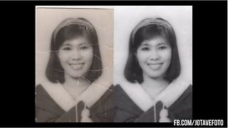 Old photo restored with unbelievable results - Video